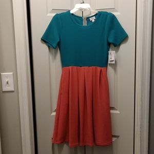 Brand New Pink and Green Lularoe Amelia Dress